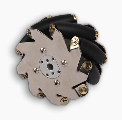100mm Left Mecanum Wheel with 4mm Shaft Connector (SPCC)