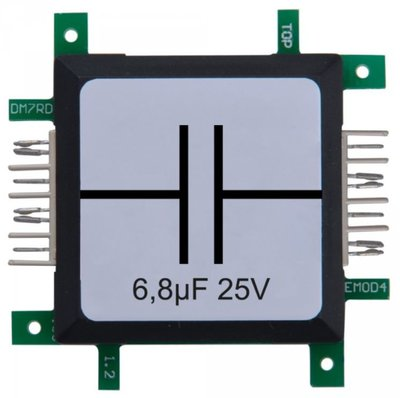 Brick'R'knowledge Condensator 6.8µF 25V