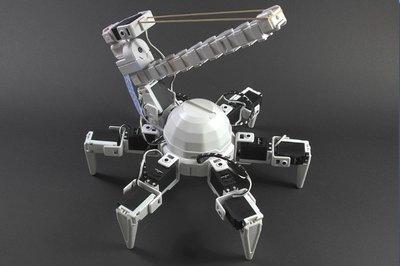 Elastic turret hexapod