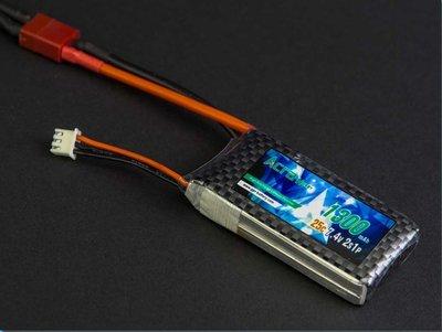 LiPo battery 7.4VDC 1300 mAh