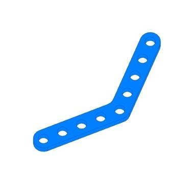 Plaat 45°-Blauw (2 stuks)
