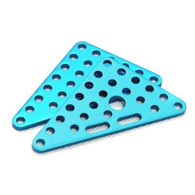 Plaat driehoek 6*8 - Blauw (2 stuks)