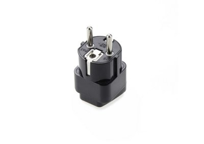Universal Plug Adapter for Germany, France, Europe, Russia & more(Type E/F)