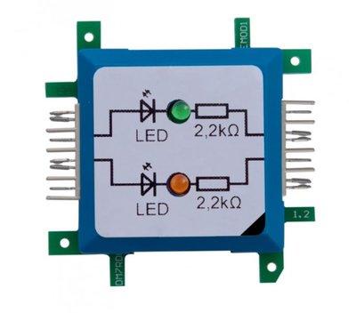 Brick'R'knowledge Dubbele LED groen/oranje