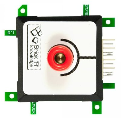 Brick'R'knowledge Meetadapter 4mm Endpoint rood