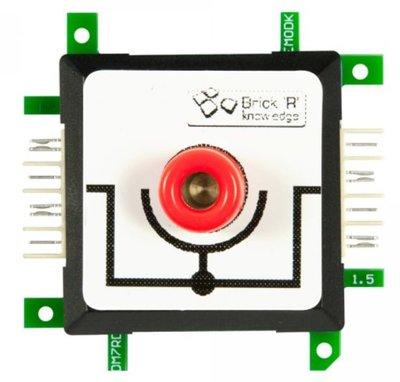 Brick'R'knowledge Meetadapter 4mm Inline rood