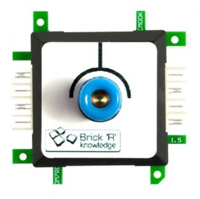 Brick'R'knowledge Meetadapter 4mm Endpoint Blauw