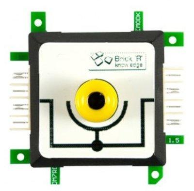 Brick'R'knowledge Meetadapter 4mm Inline Geel