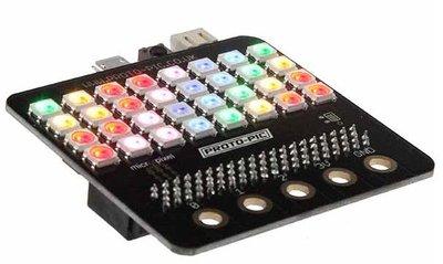 Micro:pixel 4x8 WS2812B board
