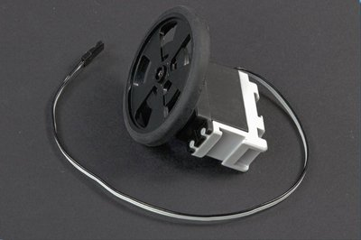 Continuous rotation servo with wheel