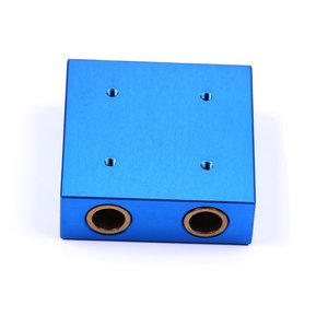 Slider With Copper Sleeve Blue - 48x48x16 mm