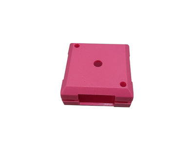 Brick'R'Knowledge Plastic bowl 1x1 magenta upper and bottom, pack of 10