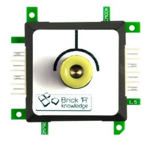 Brick'R'knowledge Meetadapter 4mm Endpoint Geel