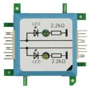 Brick'R'knowledge Dubbele LED geaard groen/geel